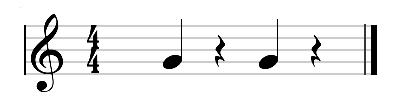 primer ejemplo los silencios musicales